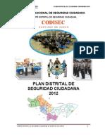Plan Distrital de Seguridad Ciudadana 2012