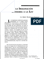 De La Imaginacion Literaria a La Ley