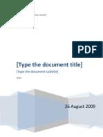 Project Product Description
