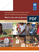Bringing Small-Scale Finance to the Poor for Modern Energy Services
