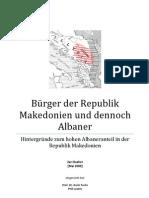 Hintergründe zum hohen Albaneranteil in Mazedonien