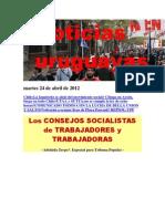 Noticias Uruguayas Martes 24 de Abril de 2012