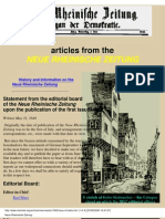 Marx Articles From the NRZ