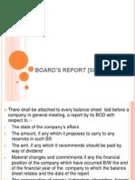 BOARD'S REPORT [SEC