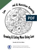 Low Input Food Nutrition Model