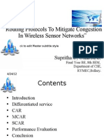 Routing Protocols to Mitigate Congestion in WSN2003
