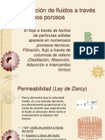 Circulación de fluidos a través de lechos porosos