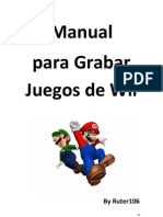 Manual Grabar Juegos de Wii