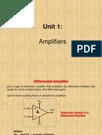 Unit 1 Amplifiers