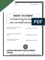 Tender Document Internet
