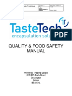 QM01 Quality & Food Safety Manual Iss 11 BRC Issue 6