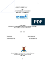 Inventory Management -- Driplex Water Eng. Thesis 127p