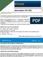 Anti Derivative of CSC
