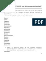 Ejercicios de morfología con soluciones 1