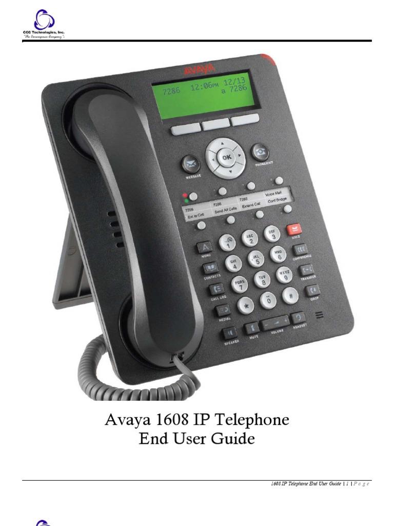 Installation and configuration of avaya 1600/9600 series ip.