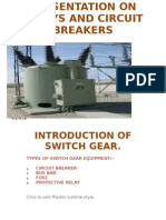Presentation on Relays and Circuit Breakers