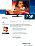 FS 4000 Series TV 42PFL4606 Preliminary