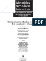 Guia de Actuaciones Educativas en El Ambito de La Comunicacion y El Lenguaje