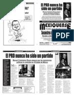 Versión impresa del periódico El mexiquense 24 abril 2011