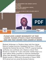Shadreck Mwiinga, Zambia, Leadership - Summit 2012