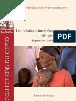Les Relations Intergenerationnelles en Afrique Approche Plurielle