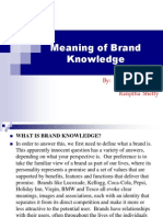Brand Knowledge Presentation