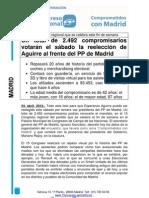 2.492 compromisarios votarán el sábado la reelección de Aguirre al frente del PP de Madrid