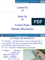 10 Outside Micrometer