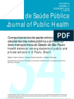 Comportamentos de saúde entre jovens