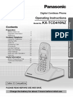 Panasonic KX-TCD410 Book