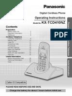 Panasonic KX-TCD410 Book