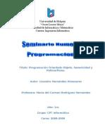 Seminario # 1 Programación