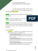 Tema 1.2 – Elementos de Estatística Descritiva – Síntese de Definições