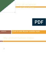 Presentation of TOA