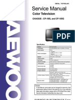 Daewoo Cp185l Cp185g Chassis Tv Sm