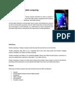 Mobile Computing Chk