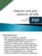 Patterns Anti Patterns of So A