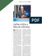 Jarbas critica a falta de reformas, no JC