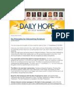 Six Principles for Interpreting Scripture