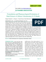Formulation and Pharmacological Evaluation Of