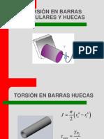 Torsión en barras circulares