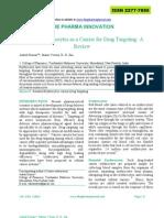 Resealed Erythrocytes as a Carrier for Drug Targeting