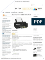 Download Driver EPSON Stylus TX121 ~ Maintenance Printer Tips