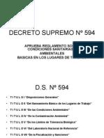 DECRETO SUPREMO Nº 594