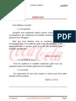 Rapport de Stage Coca Cola