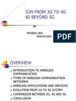 Evolution From 3g to 4g and Beyond 5g