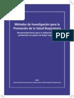 Métodos de Investigación para la Promoción de la Salud Respiratoria patrocinados