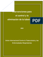 Intervenciones para el control y la eliminación de la tuberculosis