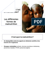 Comp Rend Re La Malnutrition