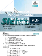 Automate Programmable Industrielle SIMENS